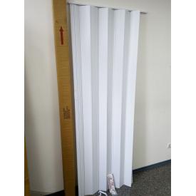 Ширма гармошка межкомнатная №018 Белая 820х2030х0,6 мм дверь раздвижная пластиковая глухая