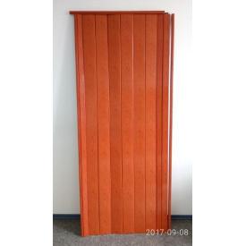 Дверь гармошка глухая 810 х 2030 х 6 Ольха Красная