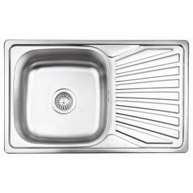 Кухонная мойка Lidz 7848 0,8 мм Micro Decor (LIDZ7848MDEC)