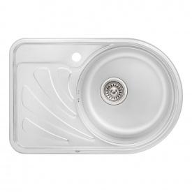 Кухонная мойка Qtap 6744R 0,8 мм Satin (QT6744RSAT08)
