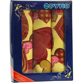 Набор кухонных полотенец Руно в подарочной упаковке Сердечко 45х80 см 3 шт