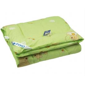 Одеяло детское шерстяное Руно зимнее салатовое 140x105 см