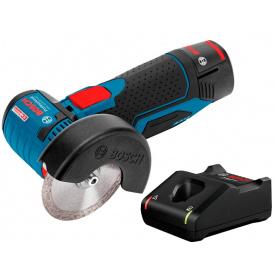Болгарка акумуляторна Bosch Professional GWS 12V-76 з 1 акб GBA 12V 2.0Ah з/п GAL 12V-40 у картонній коробці