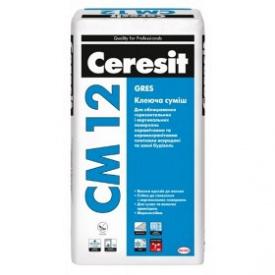 Клеющая смесь для плит на облицовки полов и керамогранита Ceresit СМ 12 25 кг