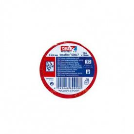 Электроизоляционная лента красная 10 м 15 мм Tesa