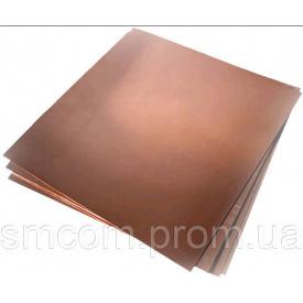 Лист мідний М2 1,5х600х1500 ДПРНМ