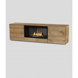 Автоматичний біокамін Planika Pure Flame TV Box Oak Veneer
