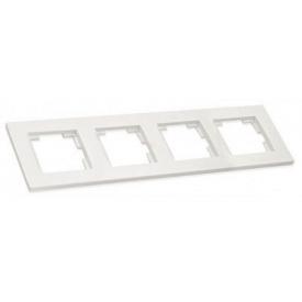 Рамка горизонтальна чотиримісна RITA Mutlusan білий