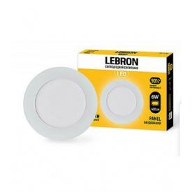 LED світильник LEBRON L-PR-641 6W вбудований 4100K з блоком живлення