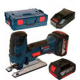 Лобзик аккумуляторный Bosch Professional GST 18 V-LI S в L-Boxx 136 с 2 акб GBA 18V 4 Ah и з/п AL 1860 CV