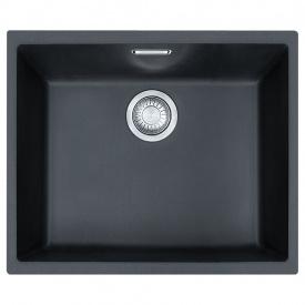Кухонна мийка FRANKE Sirius Tectonite вбудована знизу, 1-камерна 525х440 мм h200, чорний 125.0395.602