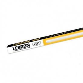 LED лампа LEBRON L-Т8-HR 18W 1200 mm G13 6200K кут 270° з тримачем
