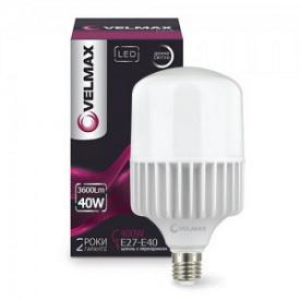 LED лампа VELMAX V-A118 50W Е27-E40 6500K 4500Lm