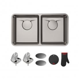 Кухонна мийка KRAUS ручної роботи вбудована знизу 836x481 мм, нержавіюча сталь KD1UD33B