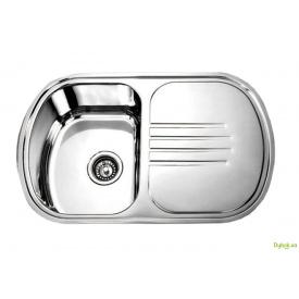 Мийка 7749, врізна 770х490х180 Декор 0,8 см (без отвору під змішувач) Platinum