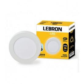 LED світильник LEBRON L-PRS-2465 24W накладний 6500K з блоком живлення