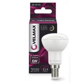 LED лампа Velmax V-R50 6W E14 3000K 510Lm кут 120°