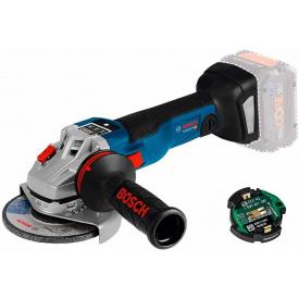 Кутова шліфмашина Bosch Professional GWS 18V-10 SC з регулюванням з Bluetooth-модулем без акб та з/п