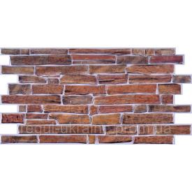 Камень ПВХ Регул Сланец настоящий коричневый 0,4х493х977 мм