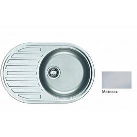 Кухонна мийка FRANKE PAMIRA вбудована зверху, 1-камерна оборотна 770х500 мм h165, хром 101.0255.790
