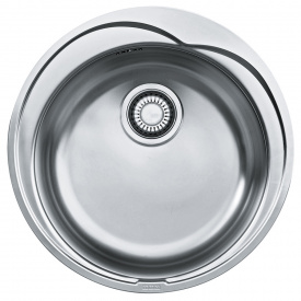 Кухонна мийка FRANKE RONDA вбудована зверху, 1-камерна матова Ø510 мм h175, хром 101.0255.785