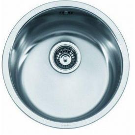 Кухонна мийка FRANKE RAMBLA вбудована зверху, 1-камерна полірована Ø510 мм h180, хром 101.0381.767