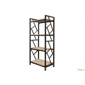 Стелаж 4 полиці (серія Ромбо) Метал-Дизайн