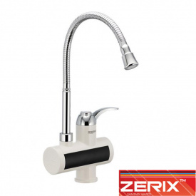Электрический проточный водонагреватель Zerix ELW 021F (рефлекторный гусак) на мойку 3 кВт