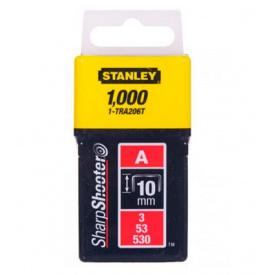 Скобы STANLEY тип А, 10мм, к степлера ручного Light Duty, 1000шт (1-TRA206T)