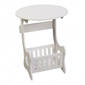 Прикроватный круглый столик Supretto с полкой для мелочей (5895)