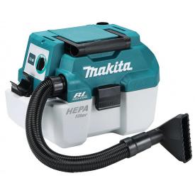 Пылесос строительный аккумуляторный MAKITA DVC750LZ
