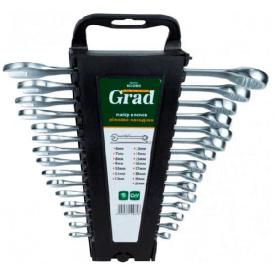 Ключи рожково-накидные Grad CrV 15шт (6010965)