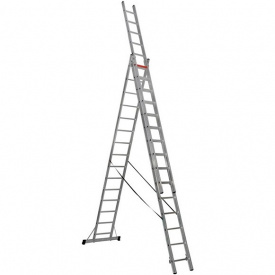Лестница трехсекционная расскладная VIRASTAR Triomax Pro алюминиевая 3x15 (TS225)