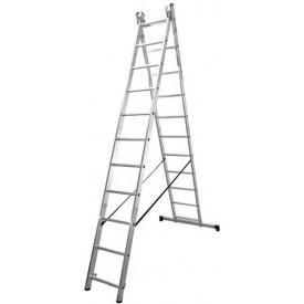 Лестница двухсекционная расскладная VIRASTAR DUOMAX алюминиевая 2x8 (VDL028)