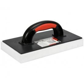 Терка пластиковая YATO для смывания керамической плитки с губкой 30мм 270x130мм (YT-51905)