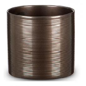Кашпо для цветов Scheurich Inspiration 7,41л керамическое бронзовое