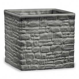 Кашпо для цветов Scheurich STONE LOOK 1,271л керамика бетонное куб