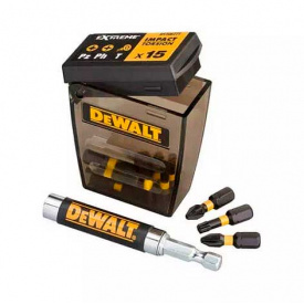 Набор бит DeWALT EXTREME FlexTorq Torx, Philips, Pozidriv, 25 мм, 16 шт, кейс (DT70577T)