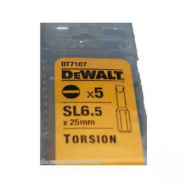 Набор бит DeWALT Slotted 6.5, 25 мм, 5 шт (DT7107)