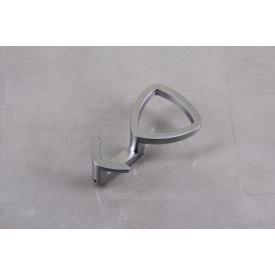 Мебельный крючок Falso Stile KK-15 двойной - хром матовый