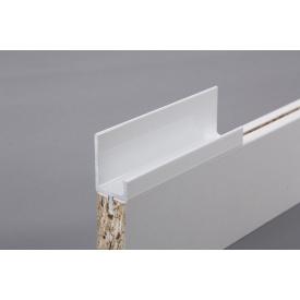 Меблева ручка профільна врізна Н 2 для ДСП 18 мм 5,95 м білий
