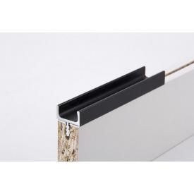 Меблева ручка профільна врізна Н 1 для ДСП 18 мм 5,95 м чорний Brush
