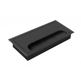 Заглушка под провода GTV прямоугольная черная(пропуск для кабеля)
