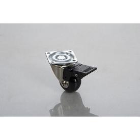 Меблевий ролик GTV BRAZYLIA 35 мм з гальмом чорний