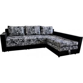 Угловой диван Ribeka Лорд В Черный (05H04)