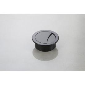 Заглушка під дроти Poliplast кругла d-74/60 чорний