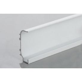 Профиль C образный для фасадов без ручек (ФБР) с пазом под LED-подсветку 5950 мм белый