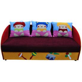 Детский диванчик Ribeka Мульти 3 Бордовый (16M02)
