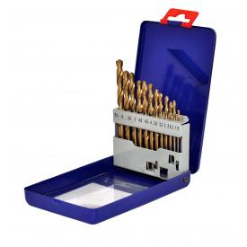 22-300 Набір свердел по металу Р 6 М 5 титан 1,5-6,5 мм 13 шт