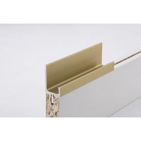 Меблева ручка профільна врізна Н 2 для ДСП 18 мм 5,95 м золото